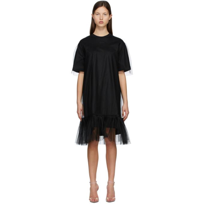 Black Tulle Overlay Dress