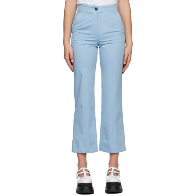 Blue Straight Leg Trousers