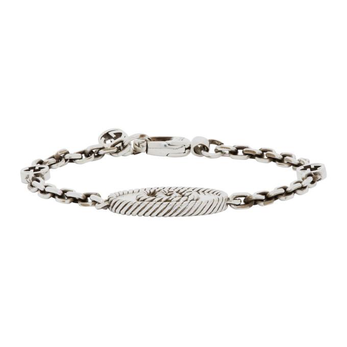 Silver GG Marmont Chain Bracelet