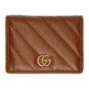Brown Diagonal GG Marmont 2.0 Card Case