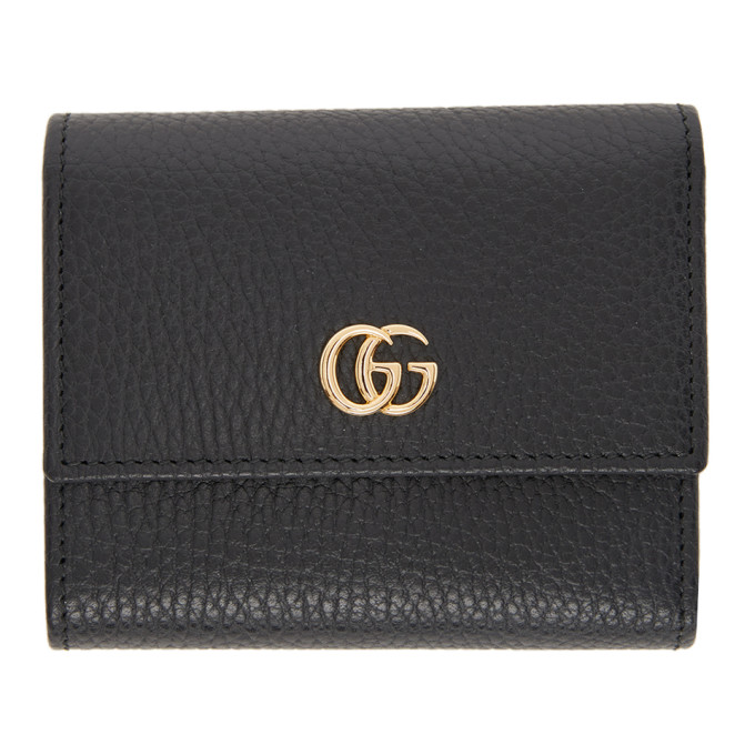 Black Small GG Marmont Trifold Wallet