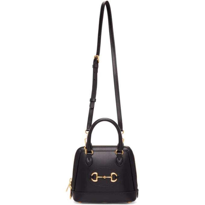 Black Small GG Gucci 1955 Horsebit Bag