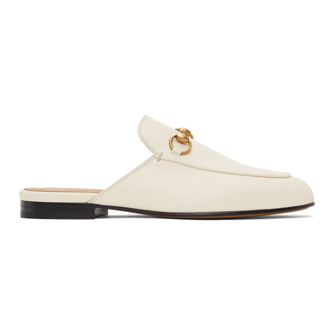 White Princetown Slippers