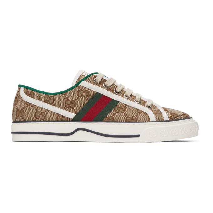 Beige GG Supreme Gucci Tennis 1977 Sneakers