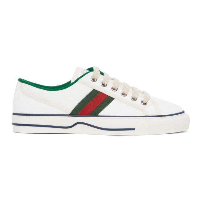 White GG Supreme Gucci Tennis 1977 Sneakers