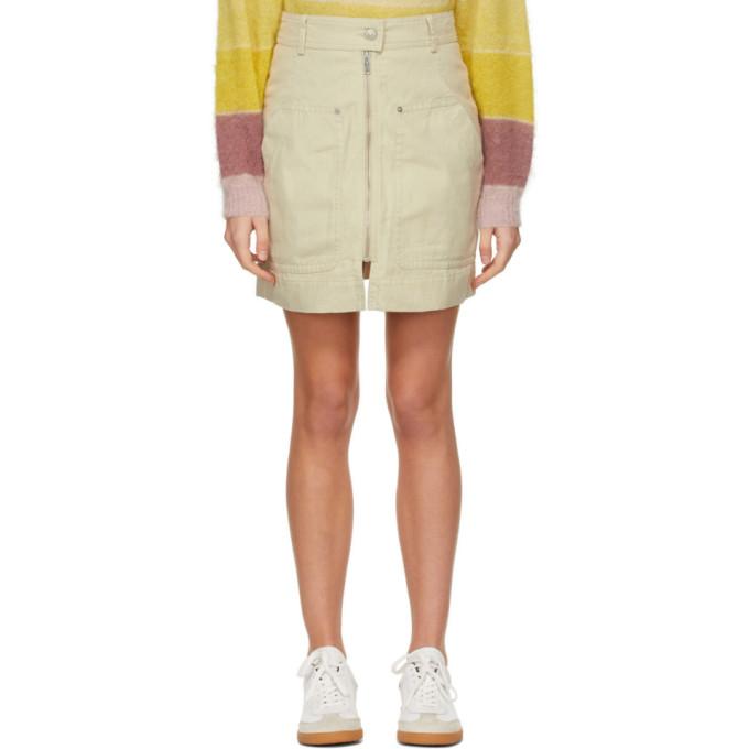 Beige Pilademi Miniskirt