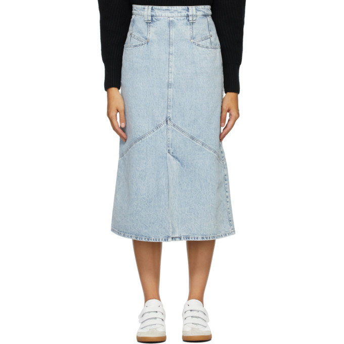 Blue Pomano Skirt