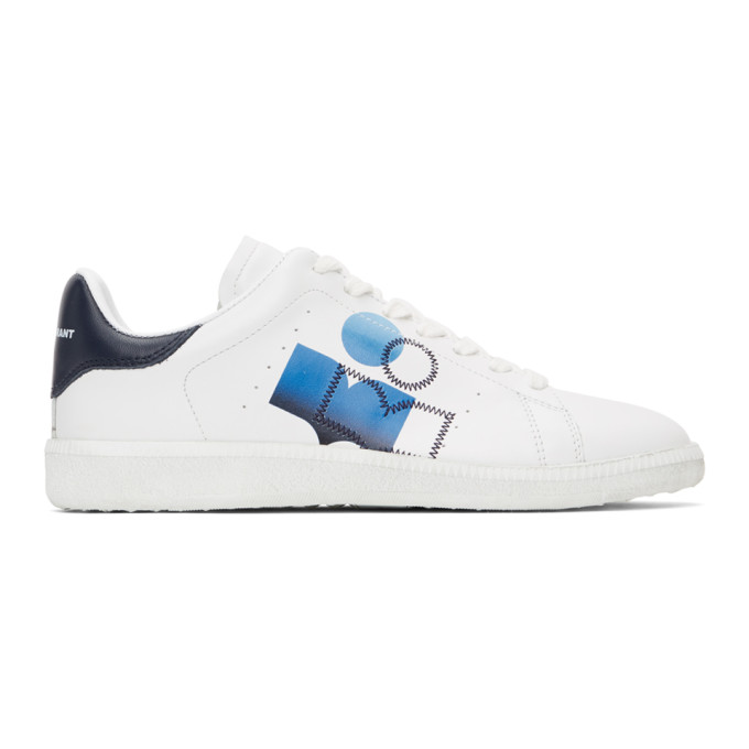 White and Blue Billyo Sneakers