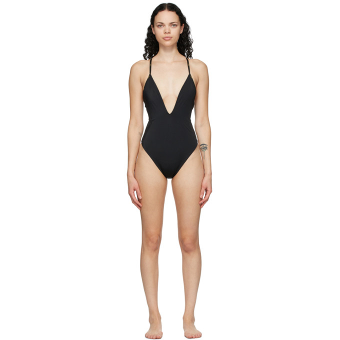 Reversible Brown and Black Forever Fendi One-Piece Swimsuit