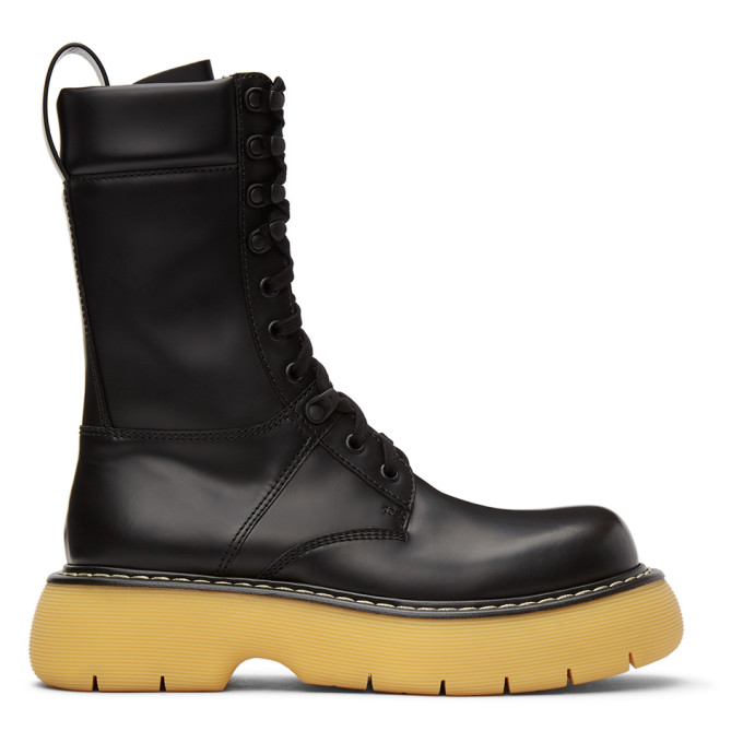 Black The Bounce Lace-Up Boots