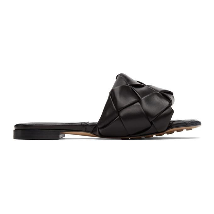 Black Intrecciato Lido Sandals
